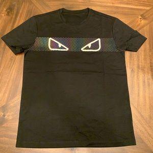 FENDI Tees T-Shirt Short Sleeves black Tee